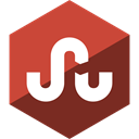 media, Gloss, Social, Stumbleupon, Hexagon IndianRed icon