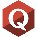 Quora, Gloss, Hexagon, Social, media IndianRed icon