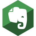 Evernote, Social, Hexagon, Gloss, media DarkSlateGray icon
