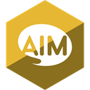 Social, Aim, Gloss, Hexagon, media Olive icon