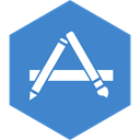 App, Social, store, Hexagon, media SteelBlue icon