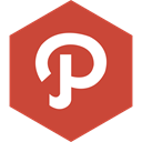 path, Hexagon, Social, media IndianRed icon