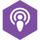 podcast, Social, Hexagon, media SlateBlue icon