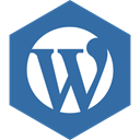 media, Social, Wordpress, Hexagon SteelBlue icon