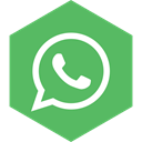media, Hexagon, Social, Whatsapp MediumSeaGreen icon