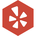 Social, Yelp, media, Hexagon IndianRed icon