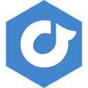 rdio, Social, media, Hexagon SteelBlue icon