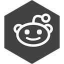 Reddit, Social, media, Hexagon DarkSlateGray icon