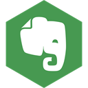 Social, media, Hexagon, Evernote SeaGreen icon