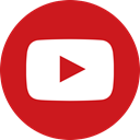 Circle, video, media, Logo, Social, youtube, Channel Firebrick icon