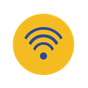 network, Business, web, Social, phone, Mobile, media Goldenrod icon