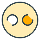 flickr, Social, media, Application, App, Communication Moccasin icon