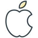 Apple, Communication, mac, media, Computer, Social Black icon