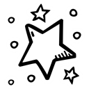 new year, Stars, party, Celebration, star Black icon