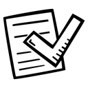 Check, Checklist, document, to do, list Black icon