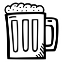 drink, beverage, Alcohol, party, beer, Celebration Black icon