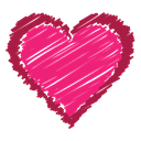 red, love, Heart, scribble, Like, bookmark, Favorite DeepPink icon