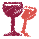 scribble, glass, wine, Alcohol, beverage, drink, Bottle Brown icon