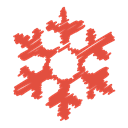 christmas, snowflake, winter, scribble, Ice, Flake, Snow Tomato icon