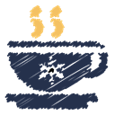 Break, Snow, snowflake, coffee cup, scribble, Coffee DarkSlateGray icon