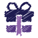 gift, christmas, surprise, free, Box, scribble, present MidnightBlue icon