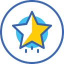 tree star, xmas, новый год, звезда, christmas, star SteelBlue icon