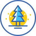 christmas, новый год, xmas, Snow, Christmas tree, Tree SteelBlue icon