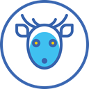 deer, новый год, олень, xmas, christmas, santa SteelBlue icon