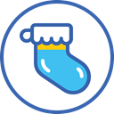 year, sock, носок, christmas, новый год, new SteelBlue icon