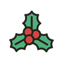 mistletoe, Holidays, christmas Black icon