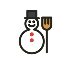 snowman, Holidays, christmas Black icon