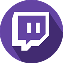 Twitch, Logo, social network, Games DarkSlateBlue icon