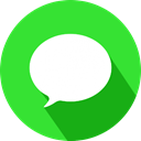 Apple, social network, Logo, imessage LimeGreen icon