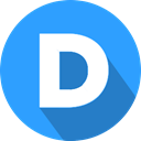 Logo, social network, Disqus DodgerBlue icon