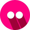 flikr, Logo, social network DeepPink icon