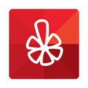 media, Message, Yelp, Social, Communication, Company Firebrick icon