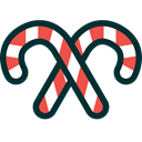 canes, christmas, sweets, candy canes, Candies, xmas DarkSlateGray icon