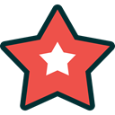 xmas, decoration, christmas, star Tomato icon