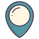 location, Map, Gps, navigation, pin OldLace icon