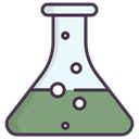 flask, liquid, chemical, science DarkSeaGreen icon
