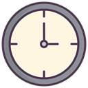 clock face, meeting, Clock, time, watch, Appointment, Schedule OldLace icon