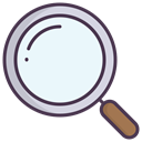 magnify, Find, zoom, search AliceBlue icon