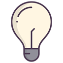 Electric, Check, bulb, Light bulb, new idea, good idea OldLace icon