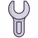 Fix, tools, Wrench, Screwdriver, repair, fixing, Building Black icon