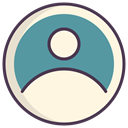 Human, profile, Avatar, Account, Man, user, person OldLace icon