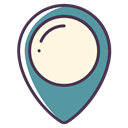 pin, location, Map, Gps, navigation OldLace icon