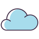 Database, Server, Data, Cloud, forecast, data base, weather LightBlue icon