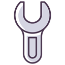 Wrench, Screwdriver, Building, tools, repair, Fix, fixing Black icon