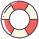 Faq, help, Lifesaver, lifebuoy, Service, Info, support Black icon