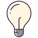 Electric, Light bulb, new idea, Check, bulb, good idea OldLace icon